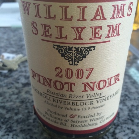 Williams Selyem Rochioli Riverblock Vineyard Pinot Noir  2007