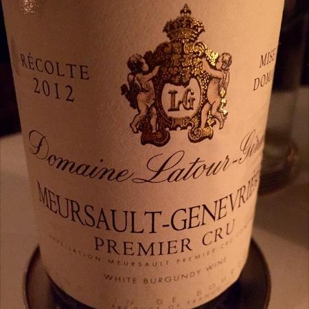 Domaine Latour-Giraud Meursault-Genevrières 1er Cru Chardonnay 2014