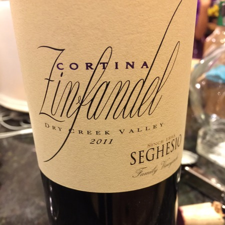 Seghesio Family Vineyards Cortina Dry Creek Valley Zinfandel 2011