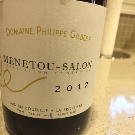 Domaine Philippe Gilbert Menetou-Salon Pinot Noir 2012