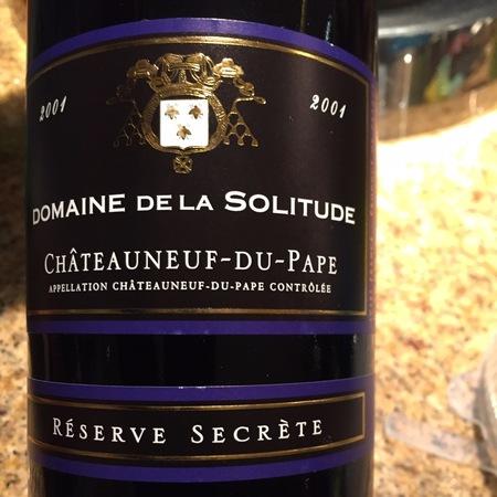 Domaine de la Solitude Réserve Secrète Châteauneuf-du-Pape Red Rhone Blend 2001