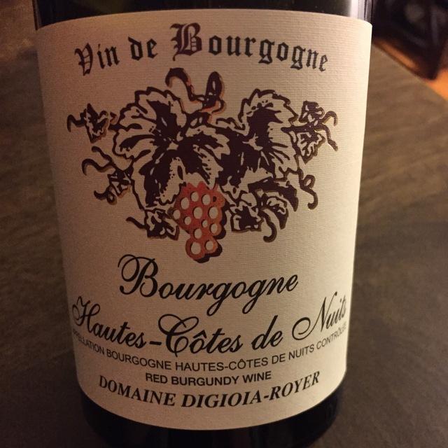Hautes - Côtes de Nuits Bourgogne Pinot Noir 2014