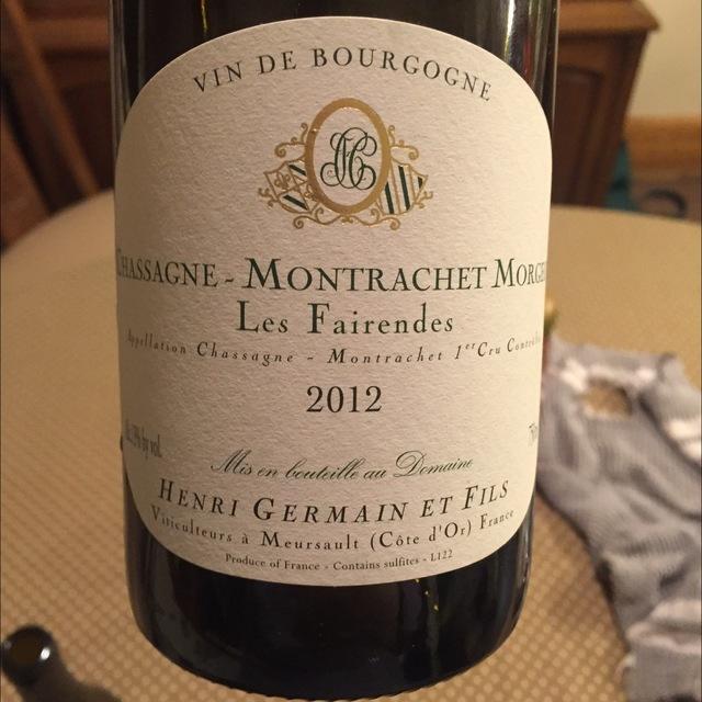 Les Fairendes Morgeots Chassagne-Montrachet 1er Cru Chardonnay 2013