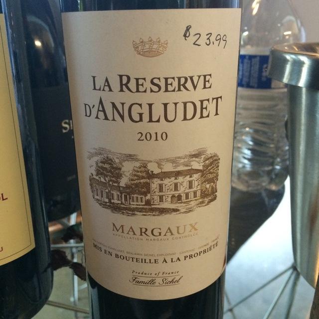 La Reserve d'Angludet Margaux Red Bordeaux Blend NV