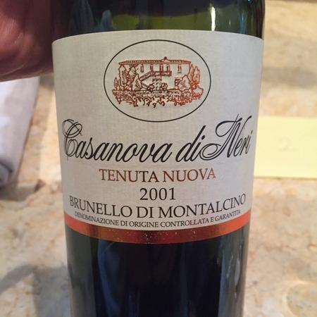 Casanova di Neri Tenuta Nuova Brunello di Montalcino Sangiovese 2001