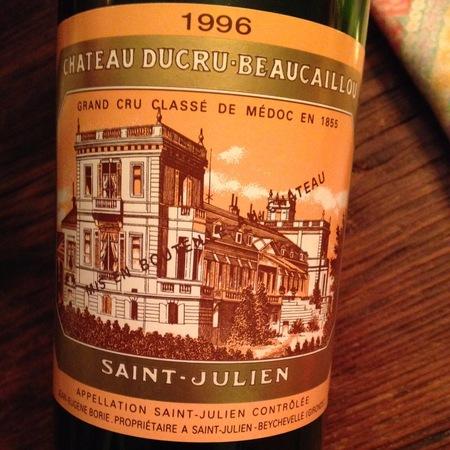 Château Ducru-Beaucaillou Saint-Julien Red Bordeaux Blend 1996