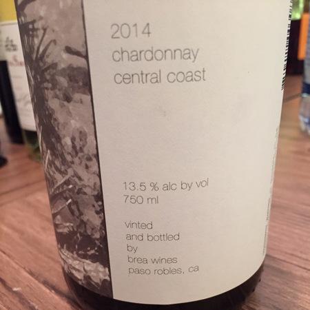 Brea Central Coast Chardonnay 2015