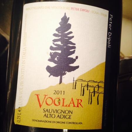 Peter Dipoli Voglar Alto Adige Sauvignon 2013
