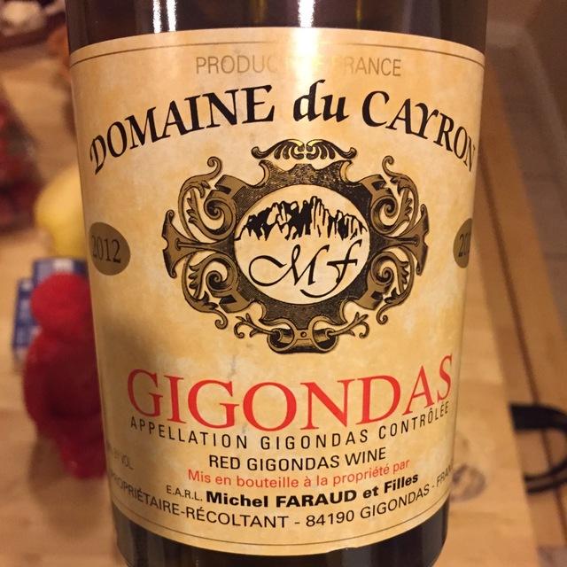 Gigondas Red Rhone Blend 2012