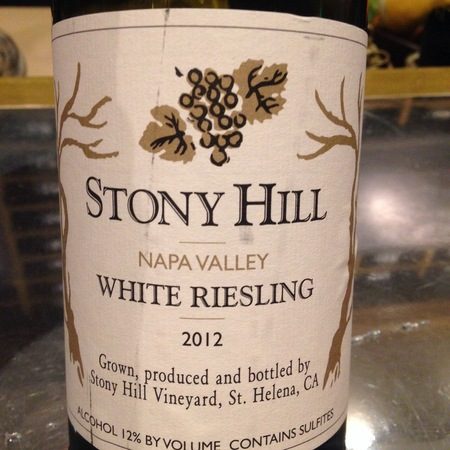 Stony Hill Napa Valley White Riesling 2014