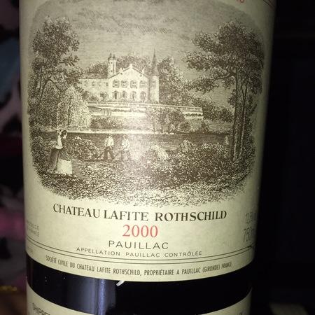 Château Lafite Rothschild Pauillac Red Bordeaux Blend 2000 (375ml)