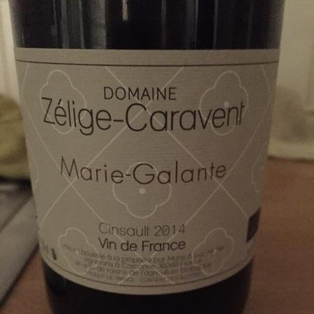 Domaine Zélige-Caravent Marie-Galante Cinsault 2014