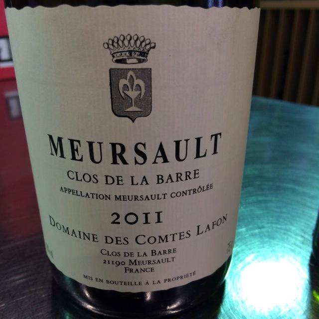 Clos de la Barre Meursault Chardonnay  2011