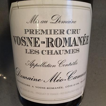 Domaine Méo-Camuzet Les Chaumes Vosne-Romanée 1er Cru Pinot Noir 2014
