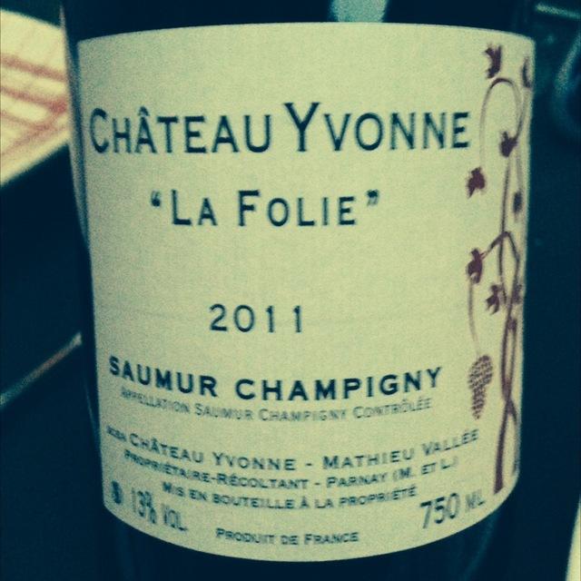 La Folie Saumur-Champigny Cabernet Franc 2014