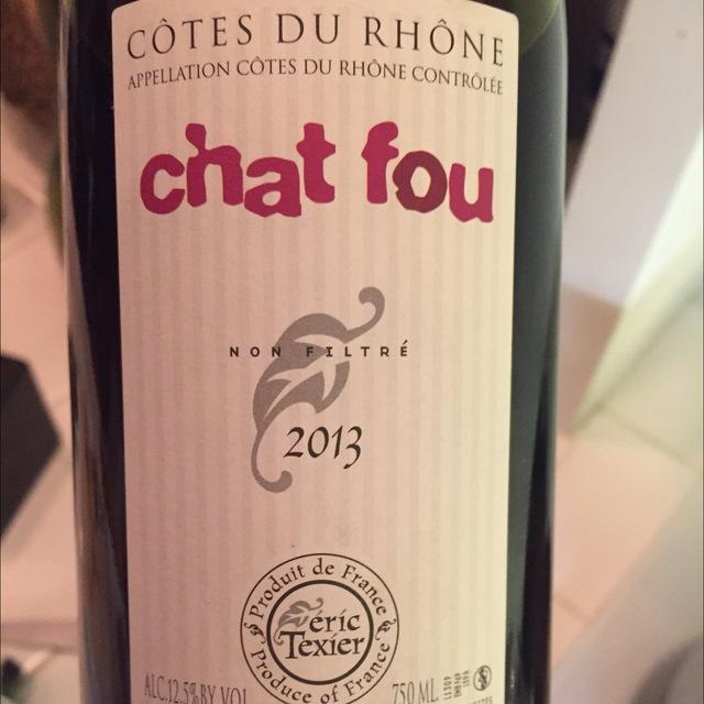 Chat Fou Côtes du Rhône Grenache 2013