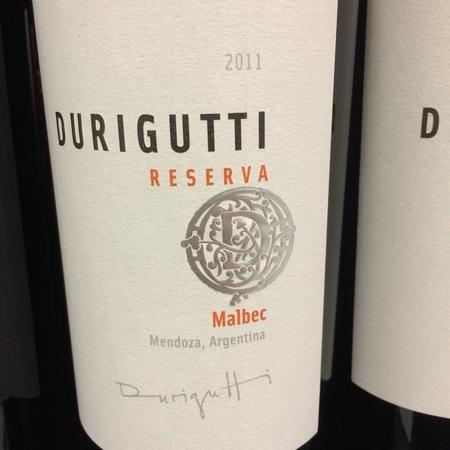 Durigutti Reserva Mendoza Malbec 2012