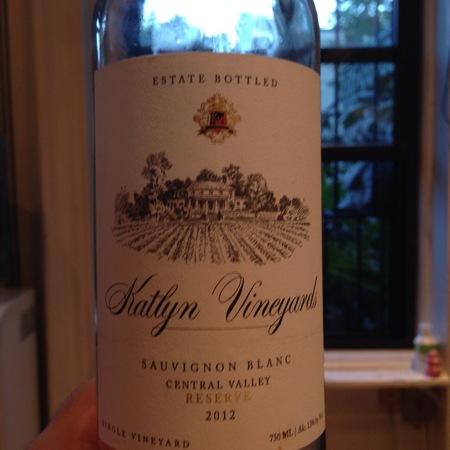 Katlyn Vineyards Reserve Central Valley Sauvignon Blanc 2015