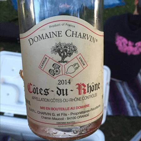 Domaine Charvin Le Poutet Côtes du Rhône Red Rhone Blend 2014