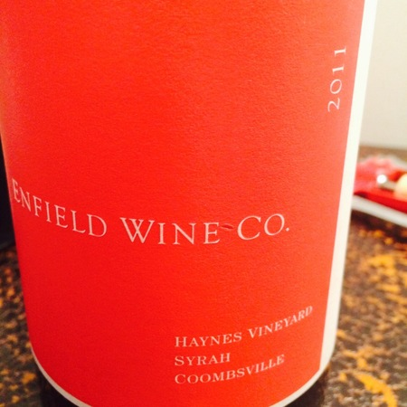 Enfield Wine Co. Haynes Vineyard Syrah 2014