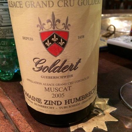 Domaine Zind Humbrecht Goldert (Gueberschwihr) Grand Cru Muscat 2005