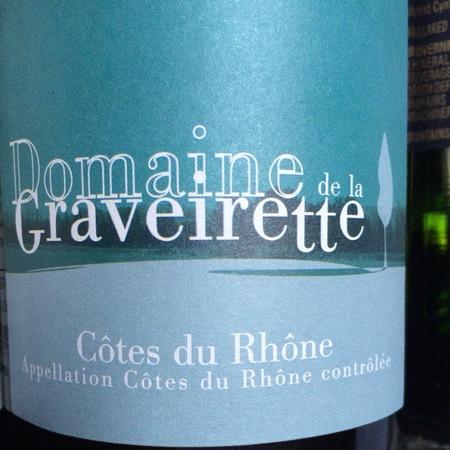 Domaine de la Graveirette Côtes du Rhône Red Rhone Blend 2014