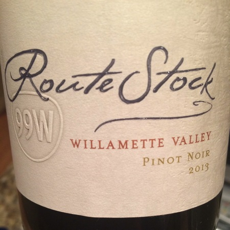 RouteStock Cellars Route 99W Willamette Valley Pinot Noir 2015