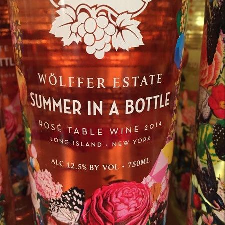 Wölffer Estate Summer in a Bottle Long Island Rosé Blend 2017
