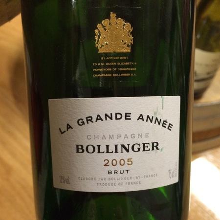 Bollinger La Grande Année Brut Champagne Blend 2005 (1500ml)