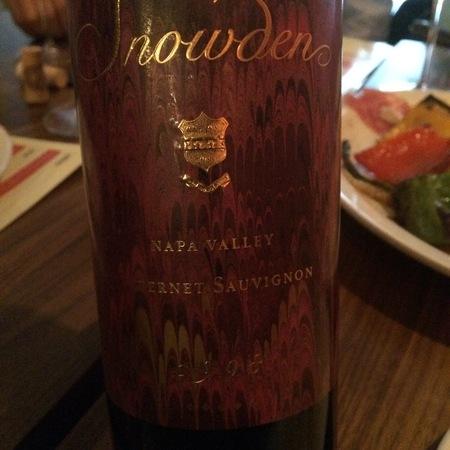 Snowden Napa Valley Cabernet Sauvignon 2014