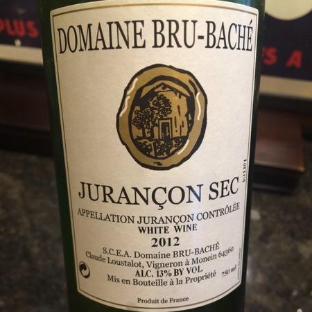 Domaine Bru-Baché Jurançon Sec Gros Manseng 2015