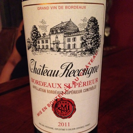 Château Recougne Supérieur Red Bordeaux Blend 2011