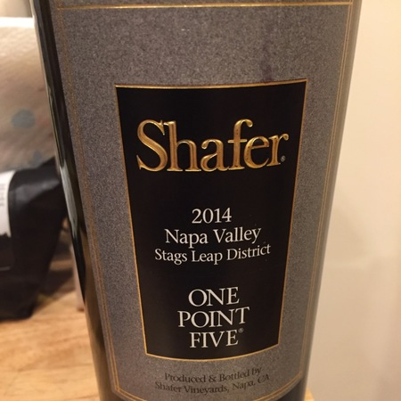 Shafer One Point Five Stags Leap District Cabernet Sauvignon 2014