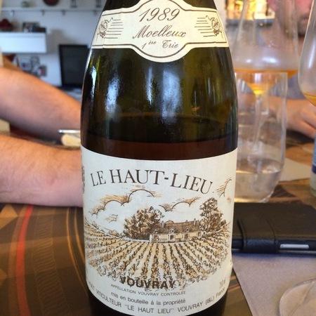 Domaine Huet Le Haut-Lieu Vouvray Moelleux 1ère Trie Chenin Blanc 2015