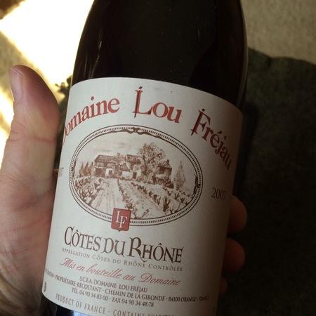 Domaine Lou Fréjau Côtes du Rhône Red Rhone Blend 2007