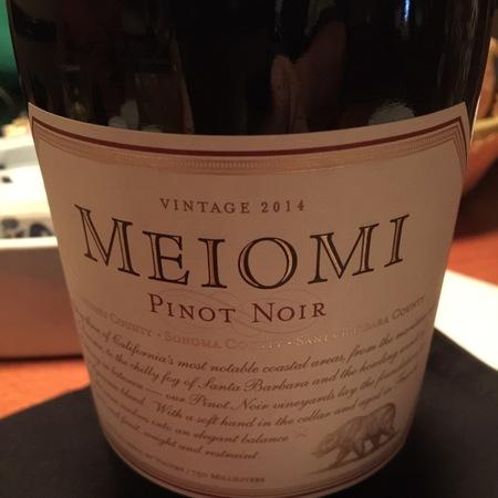 Meiomi Monterey Sonoma Santa Barbara County Pinot Noir 2016