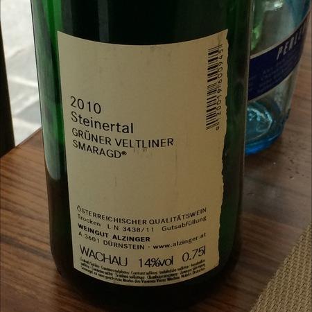 Alzinger Steinertal Smaragd Grüner Veltliner 2016