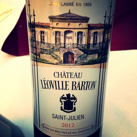 Château Léoville Barton Saint-Julien Red Bordeaux Blend 2012