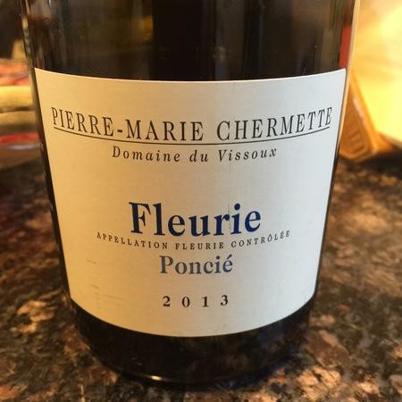 Domaine du Vissoux / Pierre-Marie Chermette Poncié Fleurie Gamay 2014