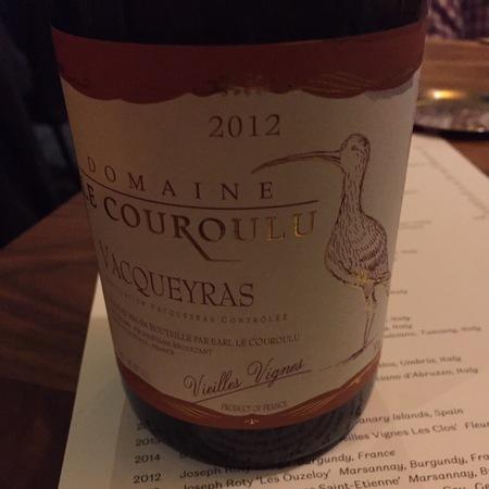 Domaine Le Couroulu Vieilles Vignes Vacqueyras Red Rhone Blend 2012