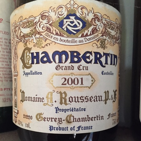 Domaine Armand Rousseau  Chambertin Grand Cru Pinot Noir 2014