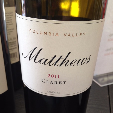 Matthews Cellars Claret Red Bordeaux Blend 2013