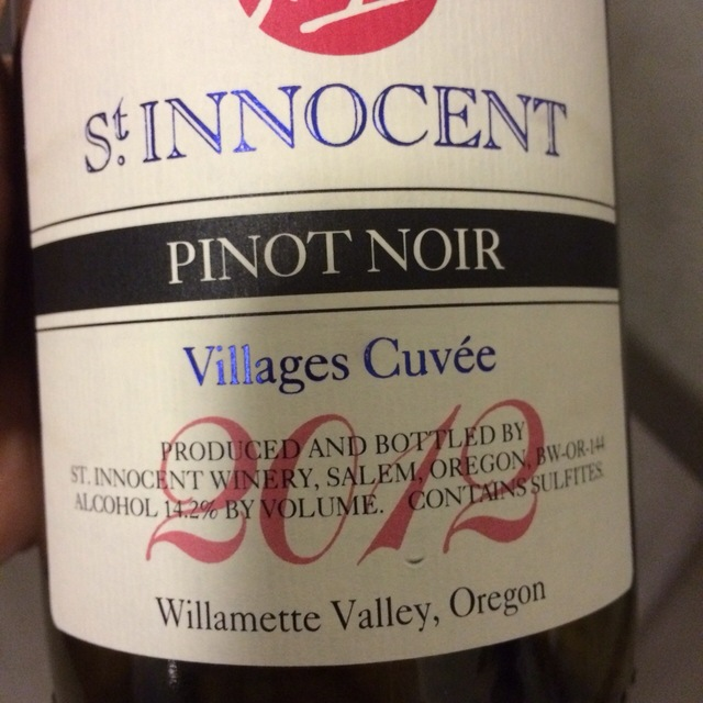 Villages Cuvée Willamette Valley Pinot Noir  2012