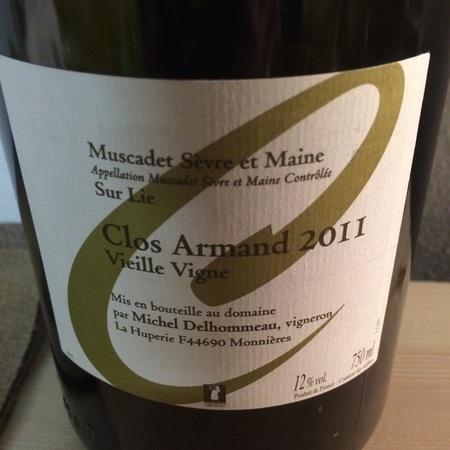 Michel Delhommeau Clos Armand Vieille Vigne Muscadet de Sèvre-et-Maine Melon de Bourgogne 2011 (1500ml)