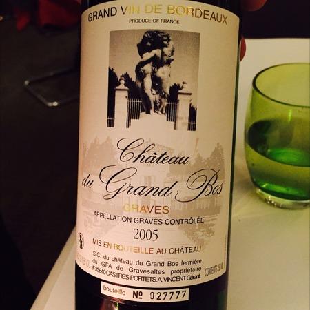 Château du Grand Bos Graves Red Bordeaux Blend 2005
