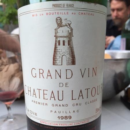 Château Latour Grand Vin de Château Latour Pauillac Red Bordeaux Blend 1989