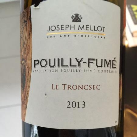 Joseph Mellot  Le Troncsec Pouilly-Fumé Sauvignon Blanc 2016