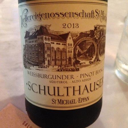 Kellerei St. Michael-Eppan Schulthauser Südtirol - Alto Adige Weißburgunder Pinot Bianco 2015