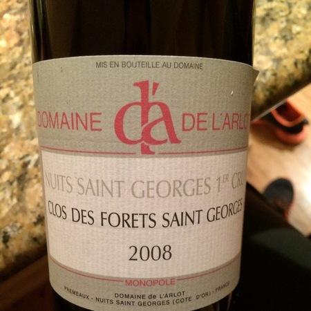 Domaine de L'Arlot Clos des Forêts St. Georges Nuits St. Georges 1er Cru Pinot Noir 2014