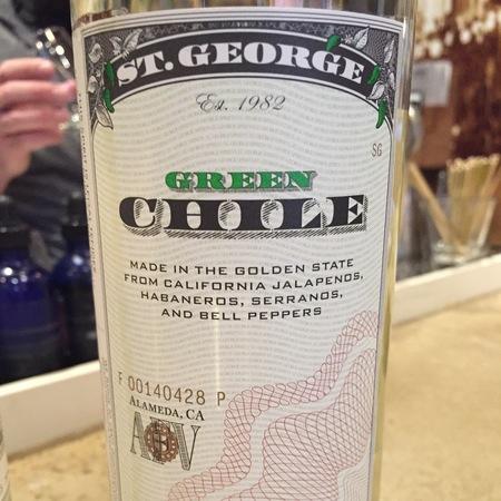 St. George Spirits Green Chile Vodka NV